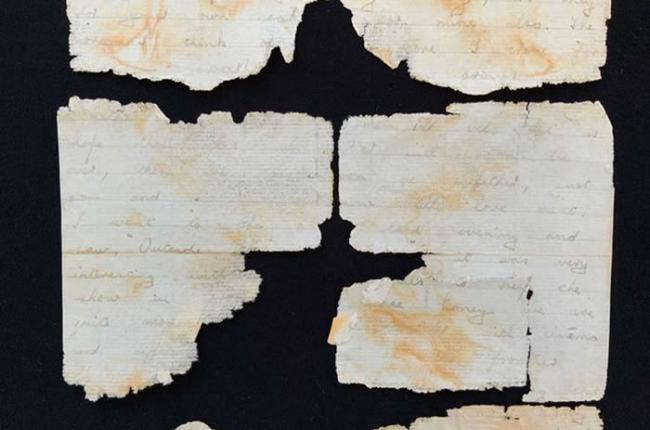 科学家修复一封在SS Gairsoppa号沉船上的第二次世界大战期间的情书