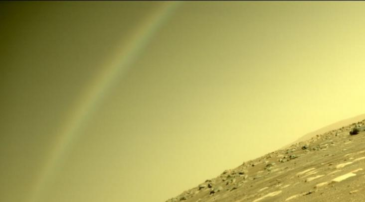 "NASA""毅力号""探测器发回火星上的""彩虹""图像"