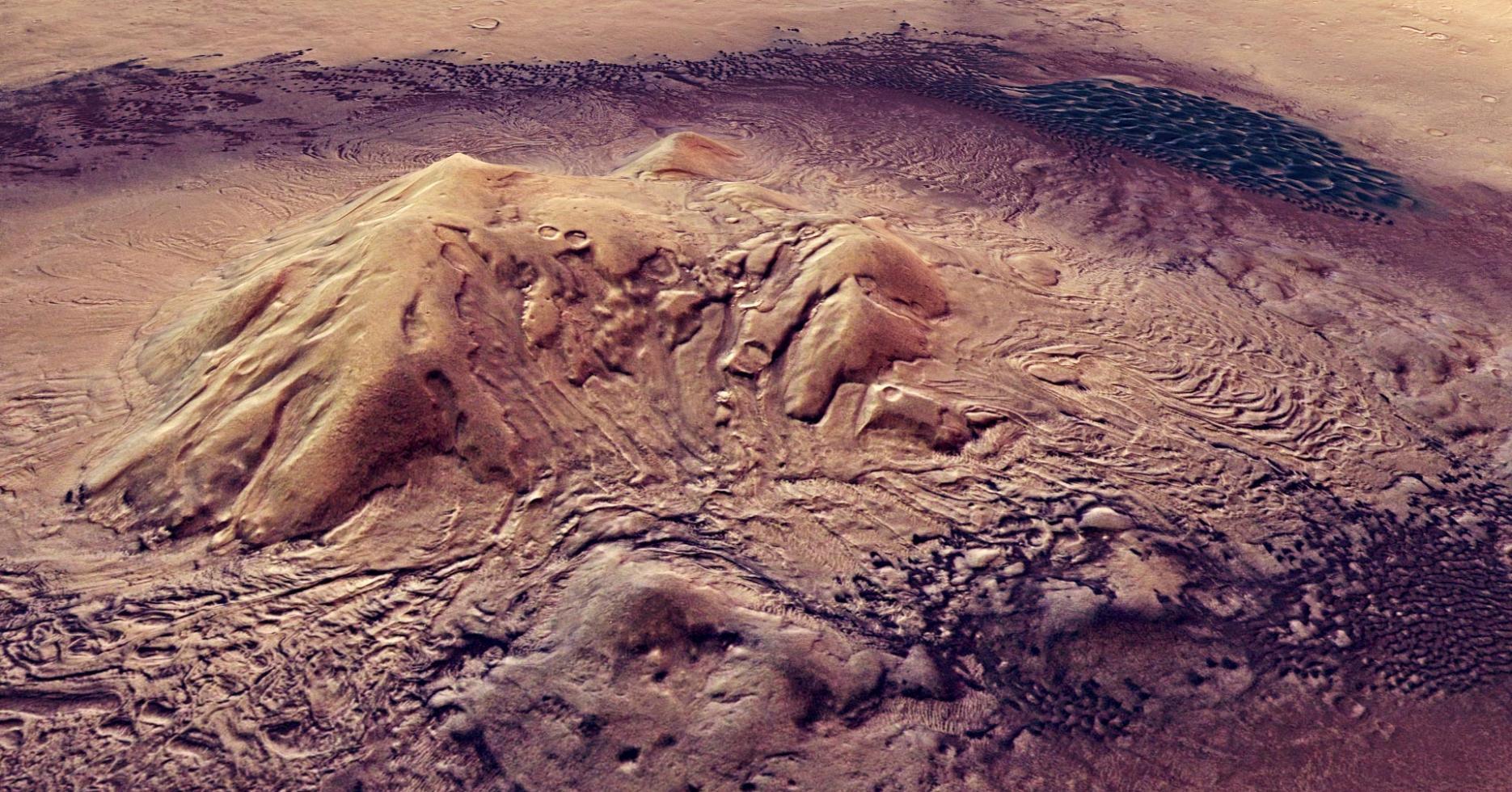新研究表明火星地壳中的岩石可能会产生跟地球表面深层微生物相同的化学能