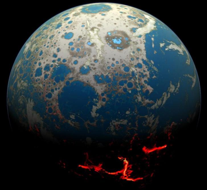研究称地球的大陆地壳出现的时间比以前认为的要早5亿年