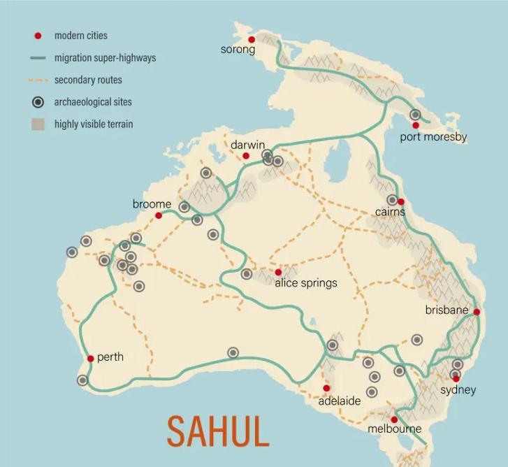 """可能的""""超级高速公路""""导致大约5万至7万年前澳大利亚大陆的首次人类迁移"""