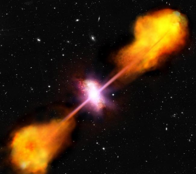 几乎所有星系中心的超大质量黑洞在吞噬周围物质时都有特定周期