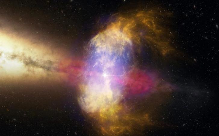 如果超新星爆炸就在另一颗恒星旁边发生 会怎么样?