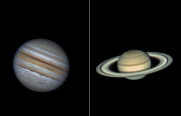 """7月25日夜空将上演木星和土星""""双星拱月""""天象"""